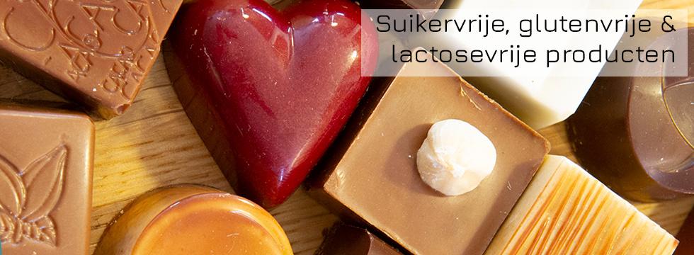 Suikervrije, glutenvrije, lactosevrije producten