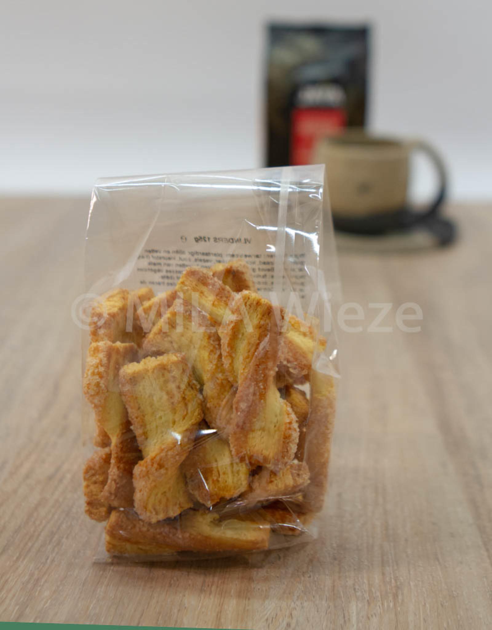 Ambachtelijk gebakken koekjes - Vlindertjes - 125 gr