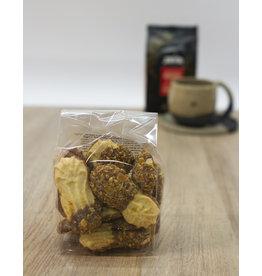 Dressé koekjes met chocolade en nootjes