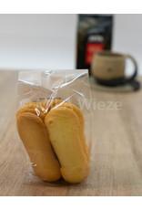 Ambachtelijk gebakken koekjes - Kattetongen - 125 gr
