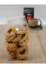 Ambachtelijk gebakken koekjes - Margrietjes met rode bessen - 125 gr - Copy