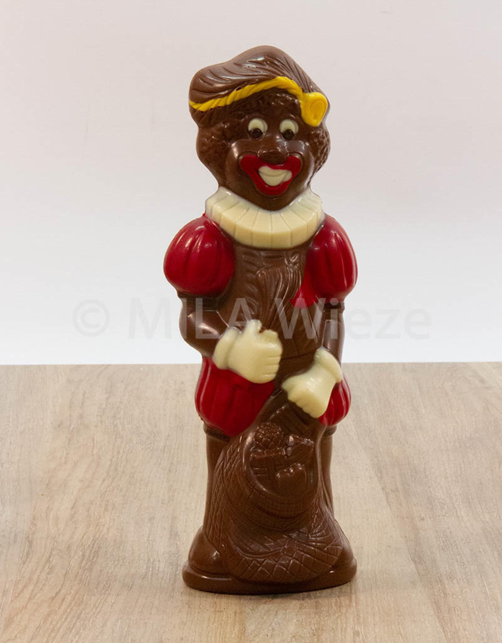 Lachende piet deco - 90 gr - 18 cm - melkchocolade