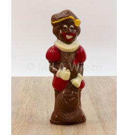 Lachende piet deco - 90 gr - Callebaut chocolade
