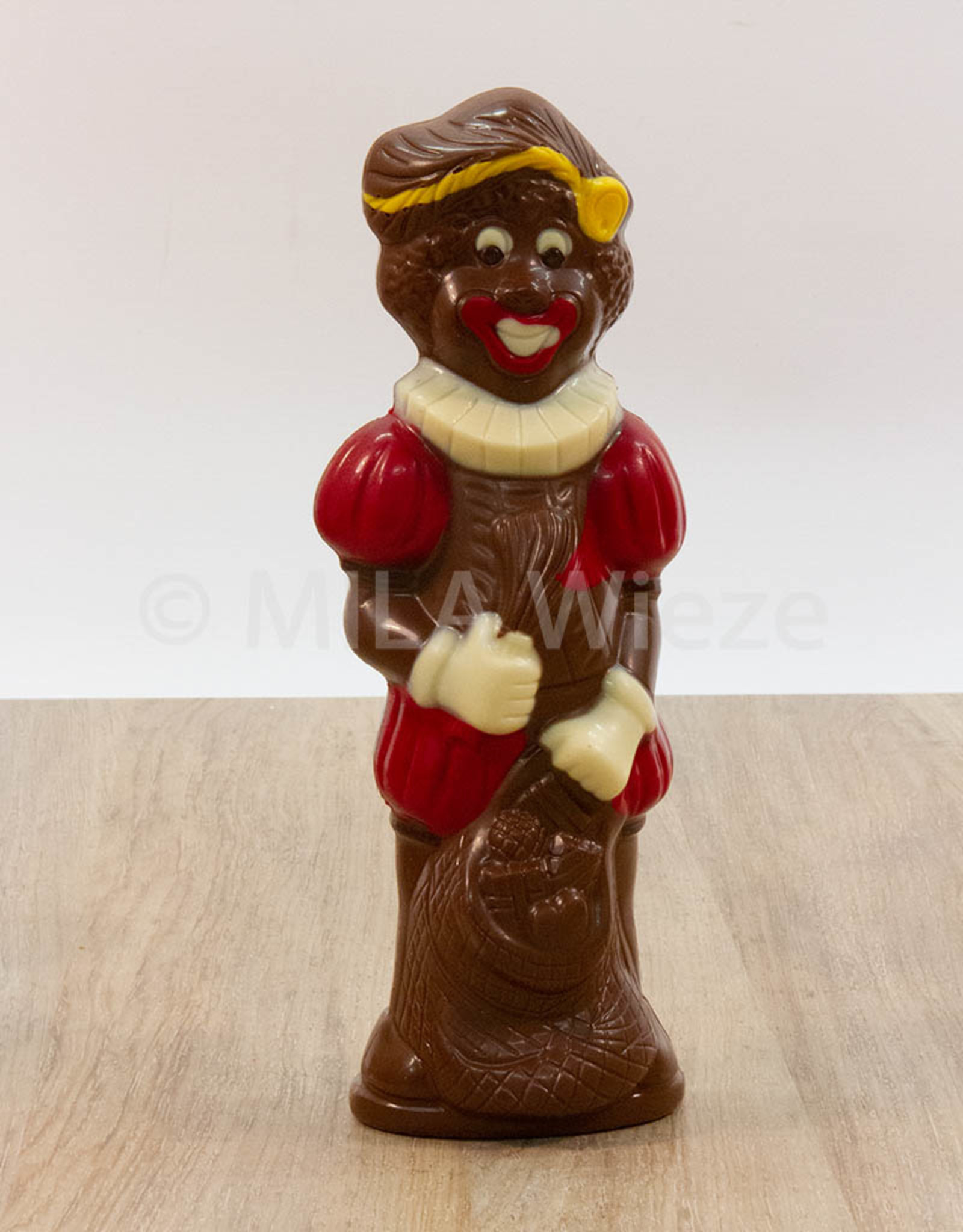 Lachende piet deco - 250 gr - 25 cm -melkchocolade