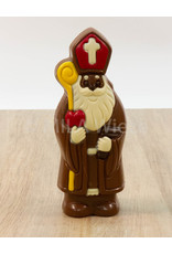 Lachende Sint deco - 150 gr - 20 cm - melk of fondant chocolade