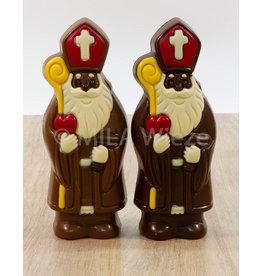 Lachende Sint deco - 150 gr - Callebaut chocolade