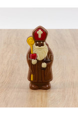 Lachende Sint deco - 50 gr - 12 cm - melkchocolade