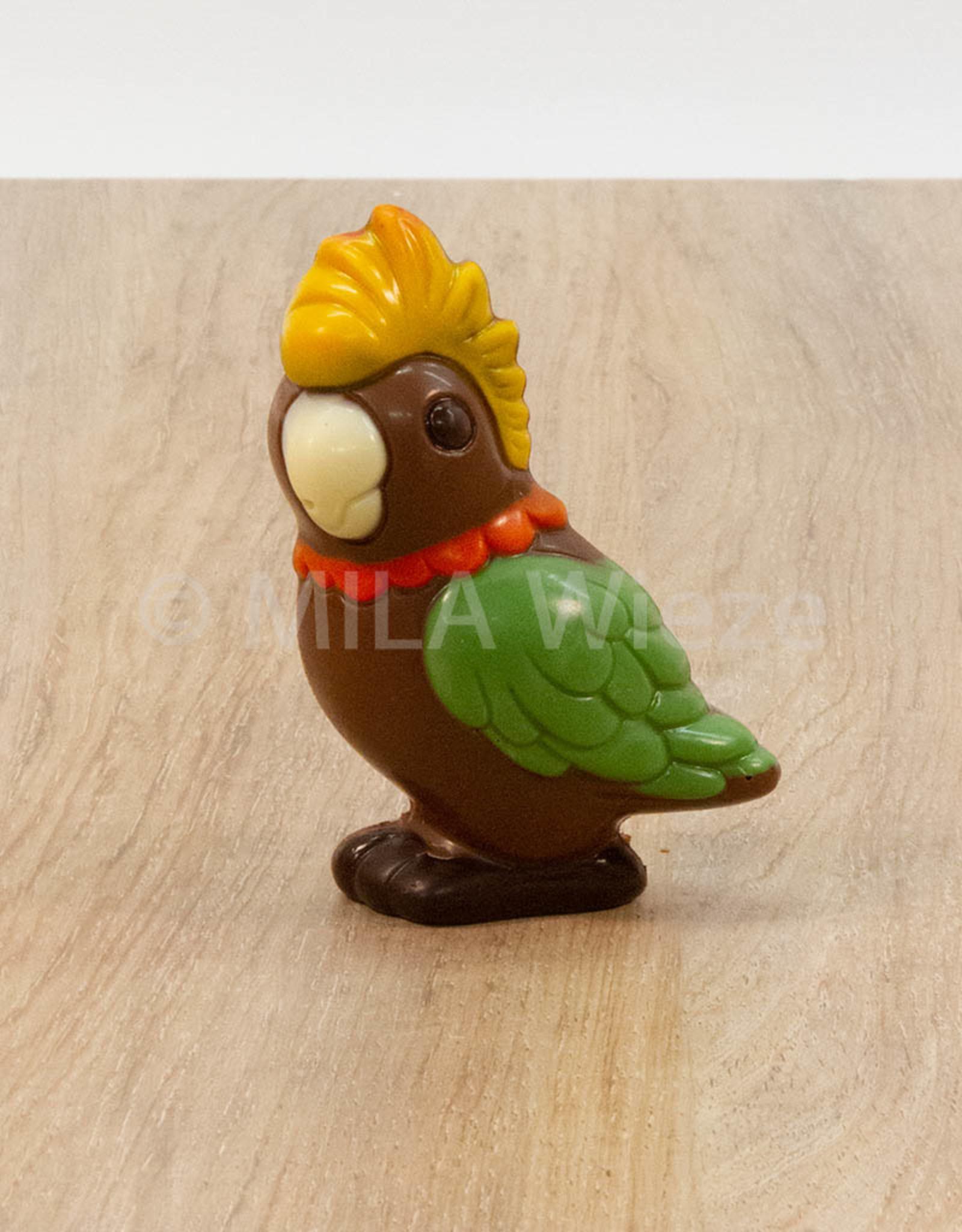 Papegaai deco - 50 gr - 10 cm - melkchocolade