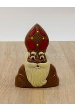Buste van Piet of Sint deco - 120 gr - 15 cm -melkchocolade - Copy