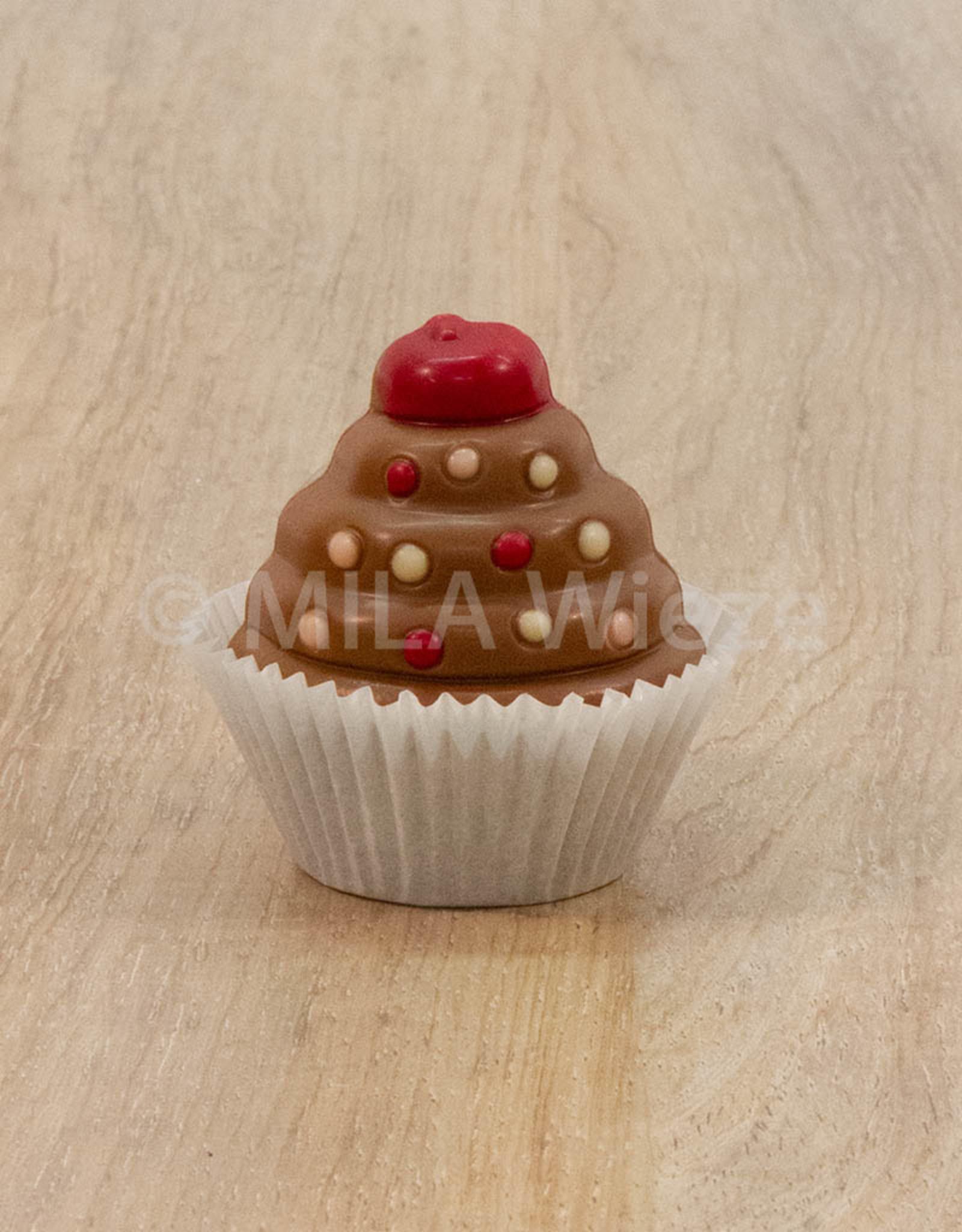 Cup cake deco - 30 gr - 7 cm - melkchocolade