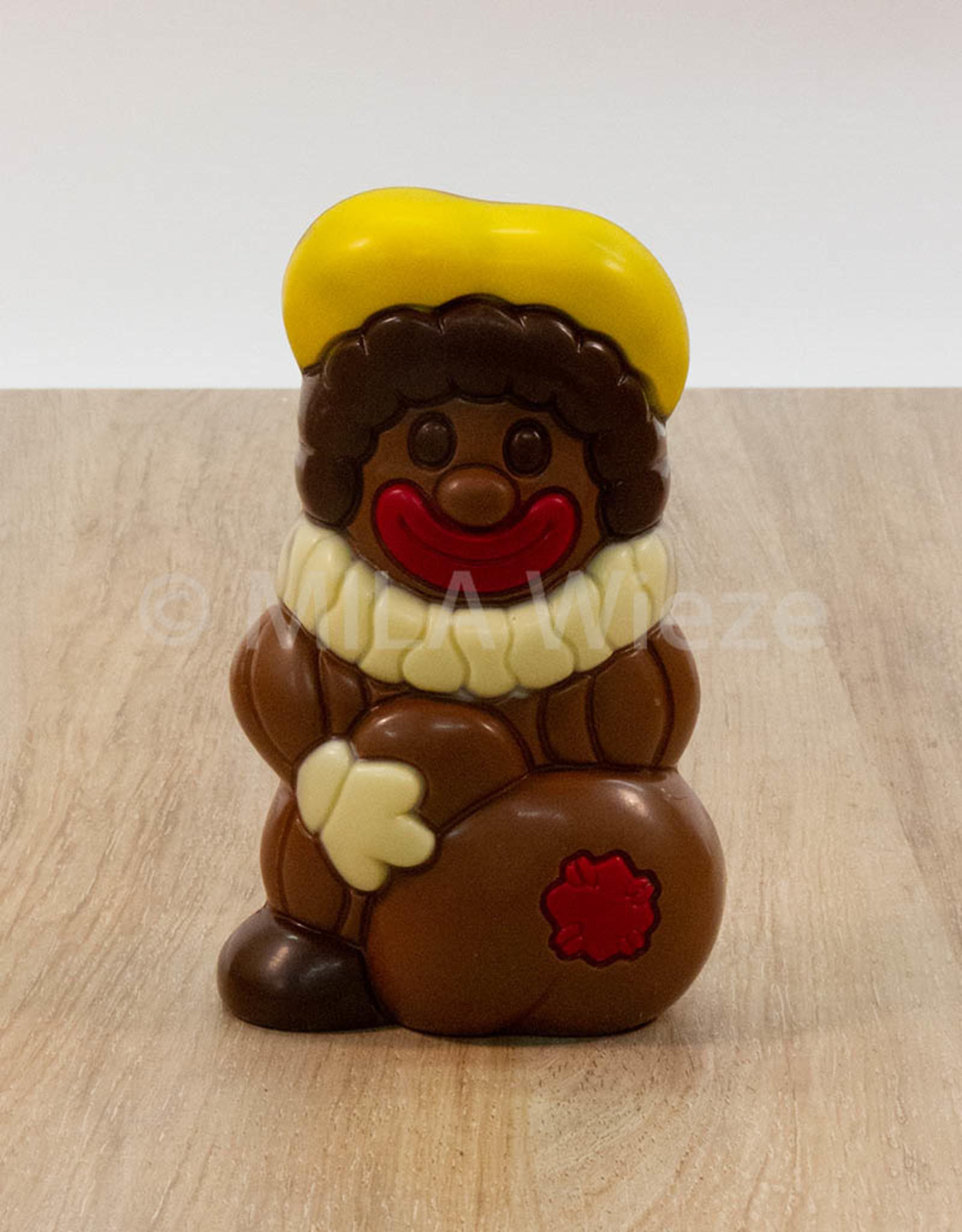 Sint met open boek of Moderne piet - 150 gr - 16 cm - Callebaut chocolade