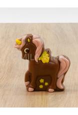 Eenhoorn deco - 75 gr - 10 cm - melk-, witte of fondant chocolade