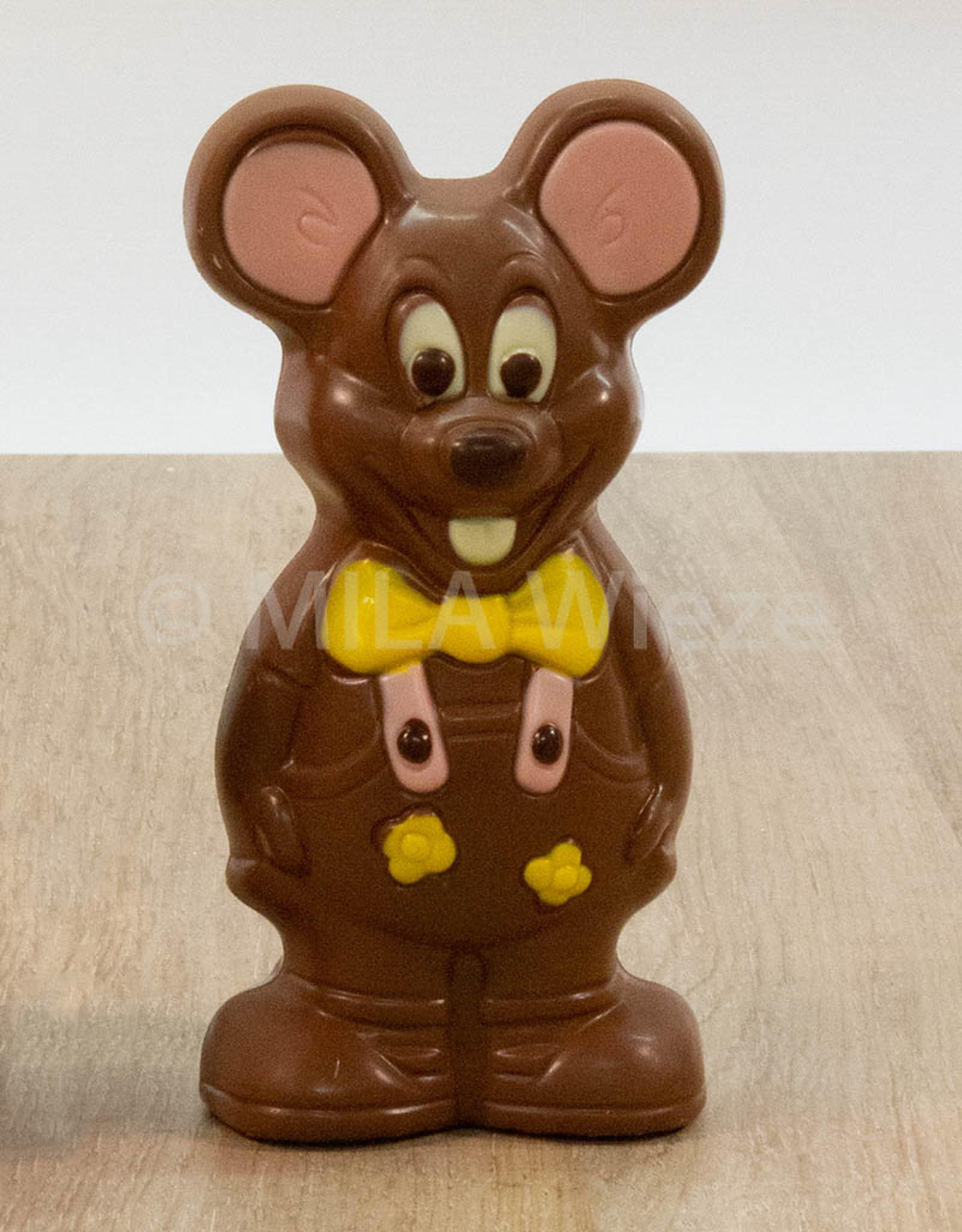 Jack of Lizzy de muis deco - 140 gr - 16 cm - Callebaut chocolade