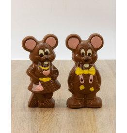 Jack of Lizzy de muis deco - 140 gr - Callebaut chocolade