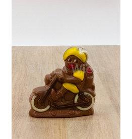 Piet op de fiets deco - 120 gr - Callebaut chocolade