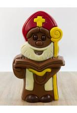 Sint met open boek - 1 kg - 35 cm - Callebaut chocolade
