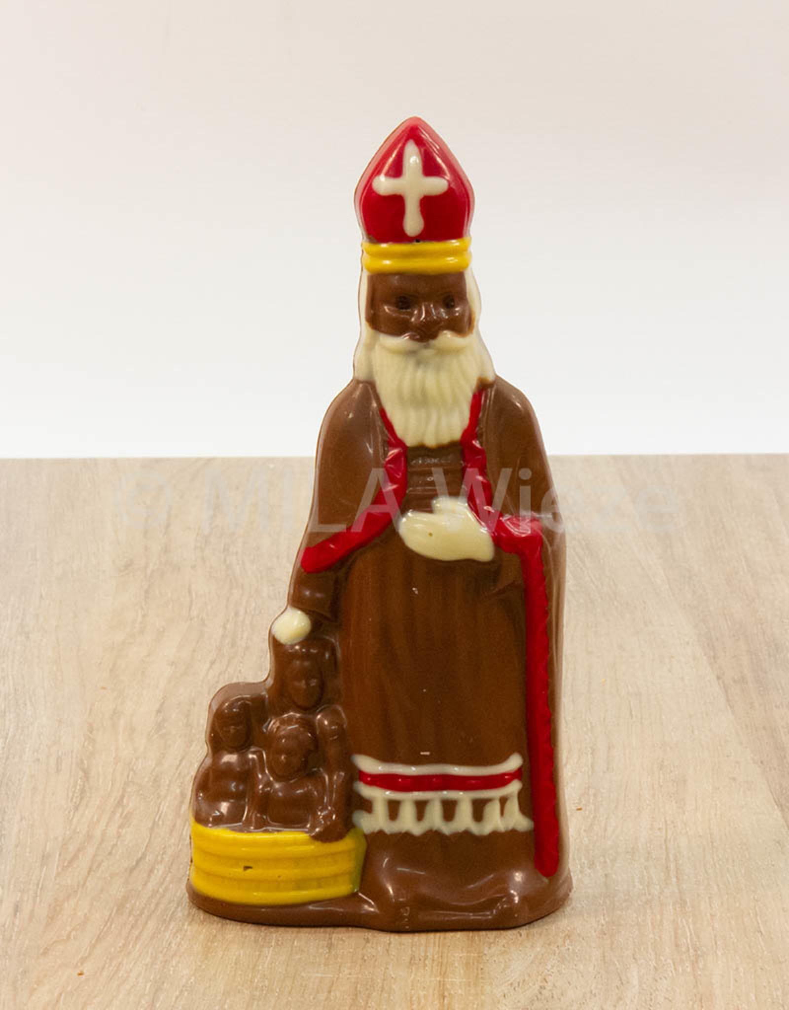 Sint deco - 125 gr - 20 cm -melkchocolade en fondant chocolade