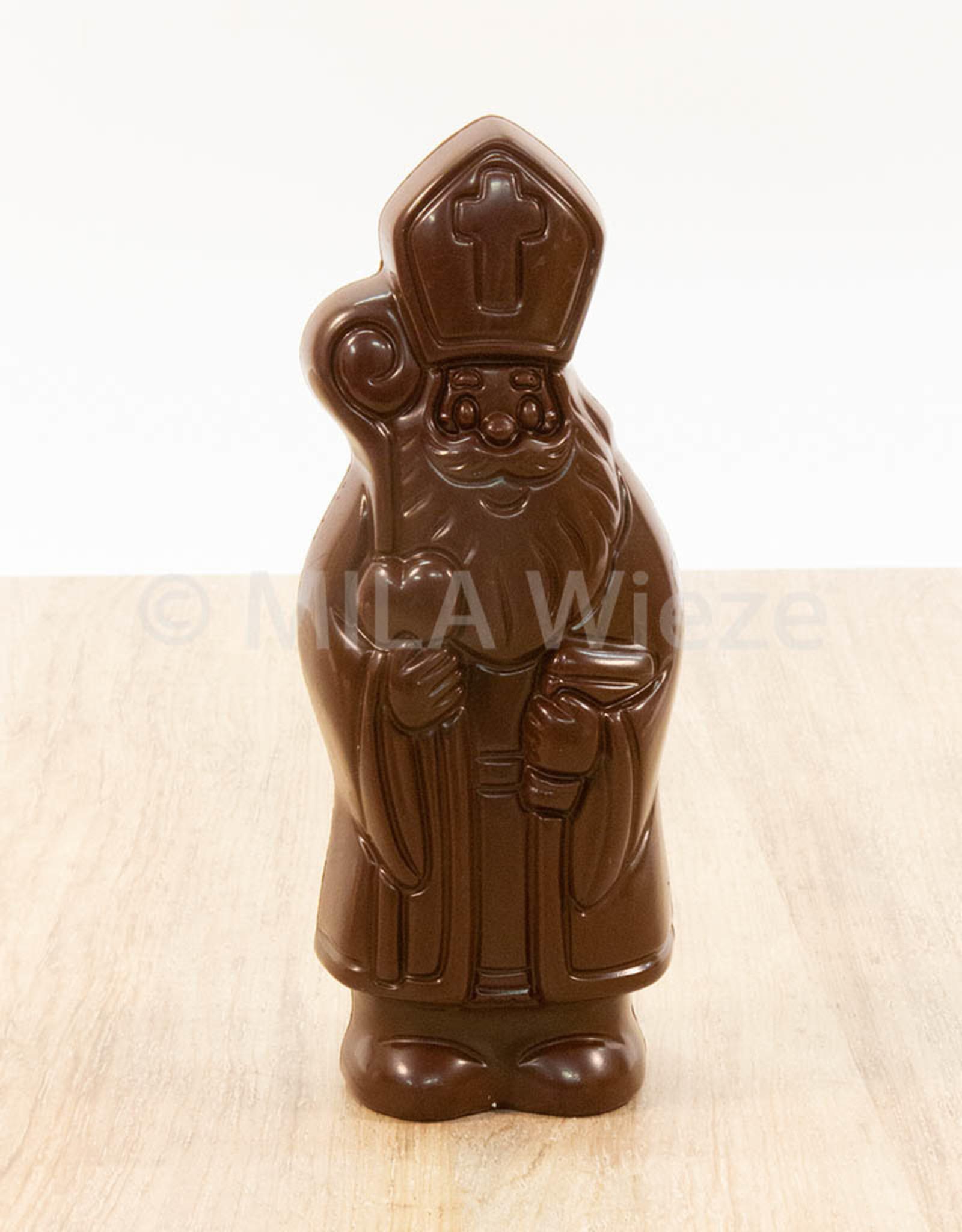 Lachende sint - 50 gr - 12 cm -melk-, witte en fondant chocolade