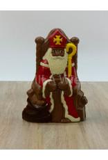 Sint op troon deco - 325 gr - 23 cm - melkchocolade