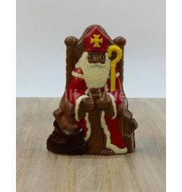 Sint op troon deco - 325 gr - Callebaut chocolade