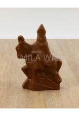 Sint te paard - 100 gr - 14,5 cm - melk-, witte en fondant chocolade