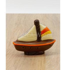 Zeilbootje deco - 60 gr - Callebaut chocolade