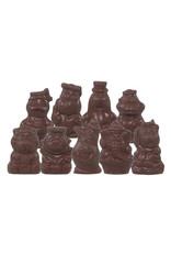 VOORDEEL - Piepfiguren van Sinterklaas - Doos 1,5 kg - melk-, witte en fondant chocolade