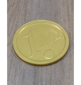 Grote gouden euro munt - 8 cm
