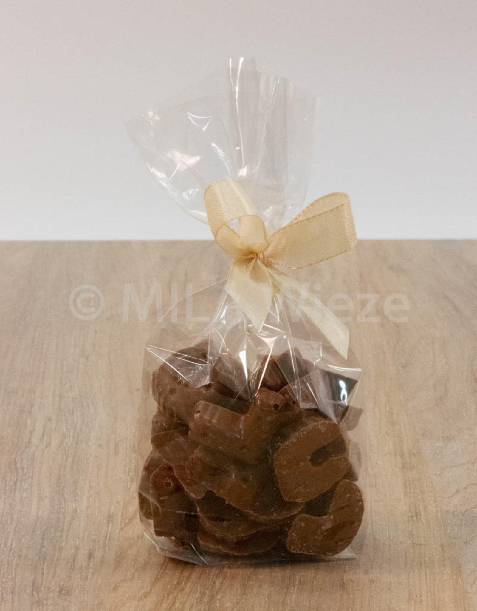 Chocolade nic nac letters - melkchocolade - 115 gr