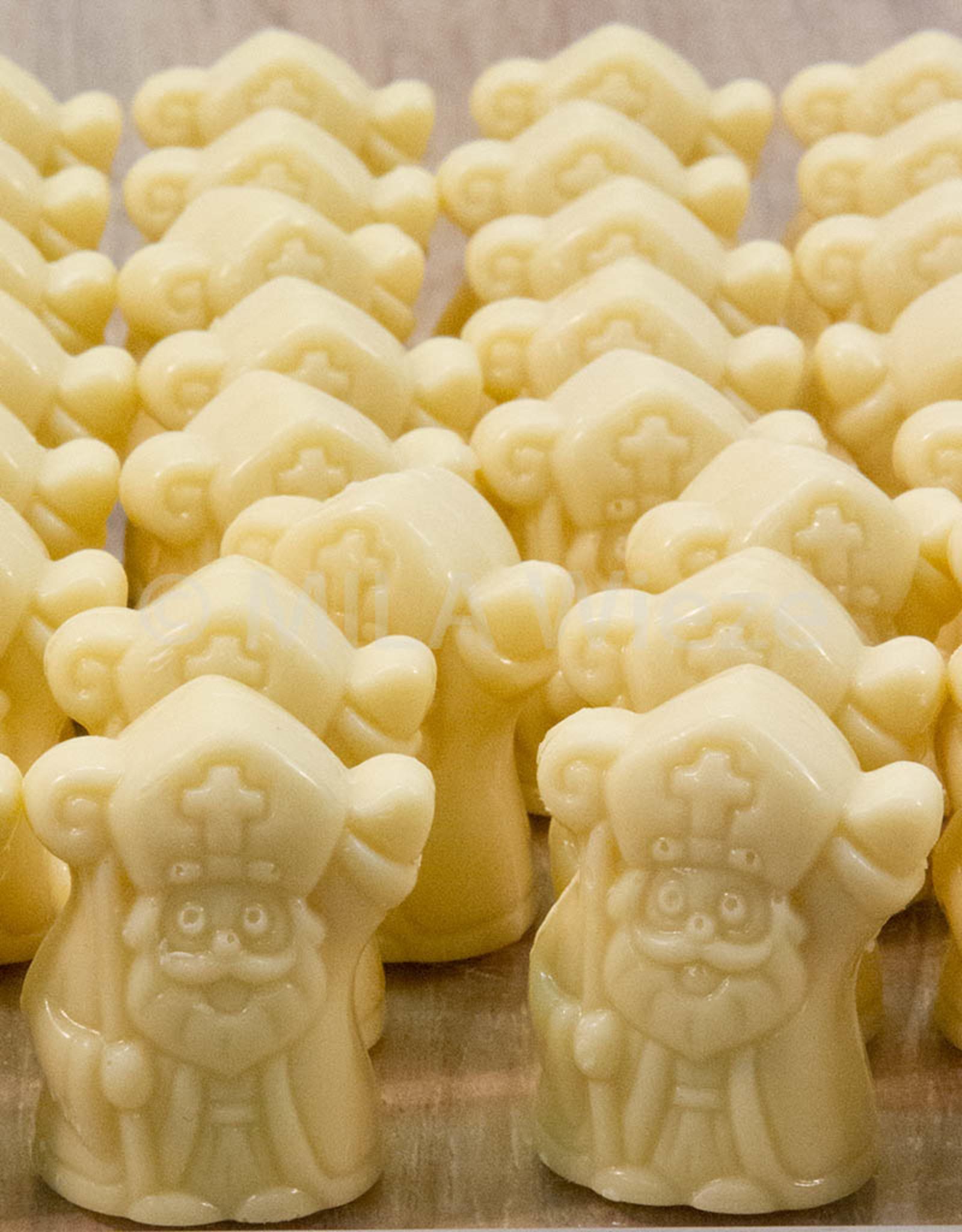 Wuivende sint - wit/pistache - 7 stuks