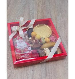 Platte mica doos met zoo, speculoos en snoepgoed