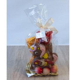 Sinterklaasgeschenk met eenhoorn en snoepgoed van Sinterklaas