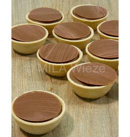 Cup  hout motief - melk ganache - 7 stuks
