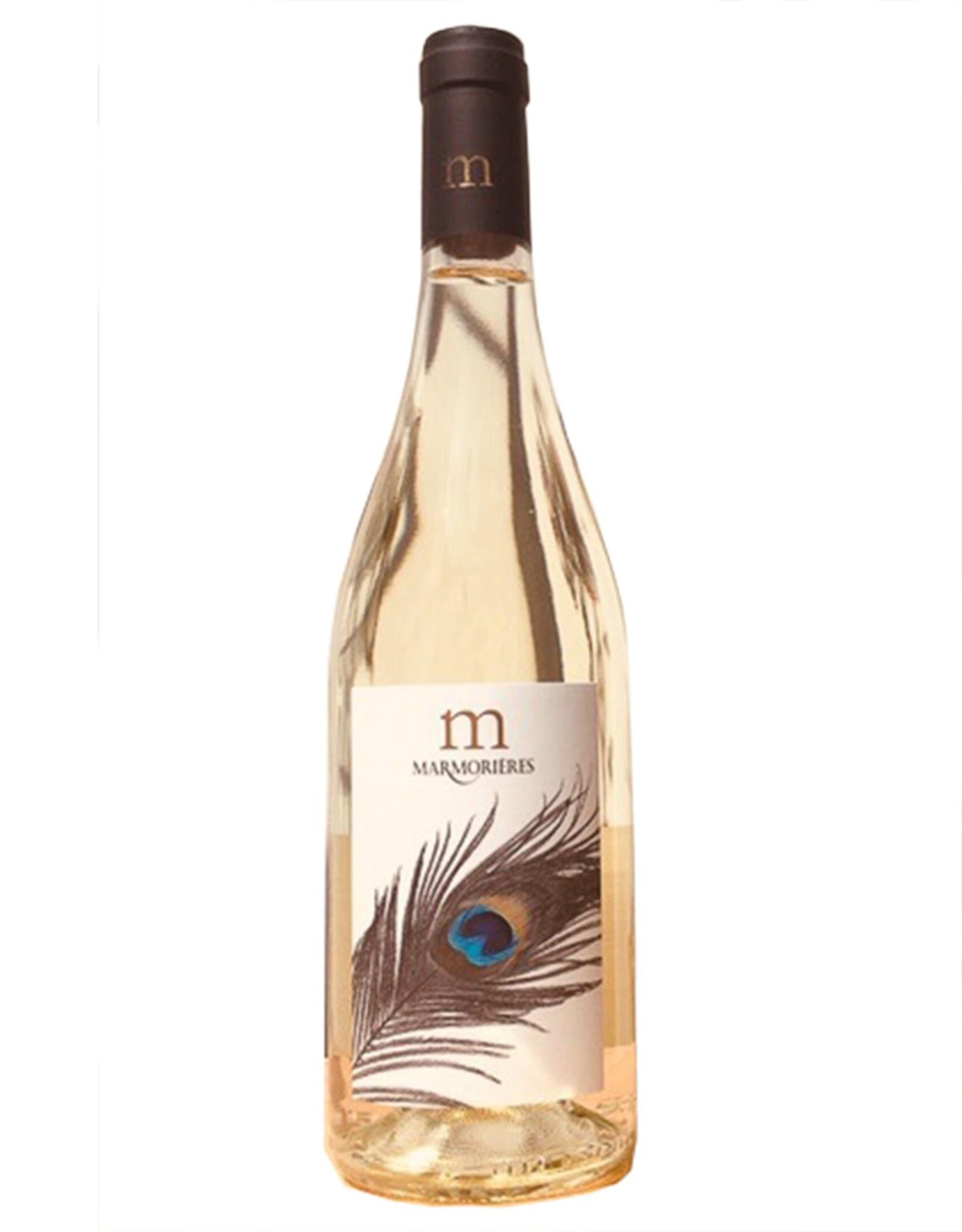 Marmorières Paons Blanc