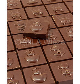 SUIKERVRIJE Paascaraque melk- en fondant chocolade - 100 gr