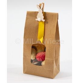 Paasgeschenk - Craft zakje met wasspeld paashaasje