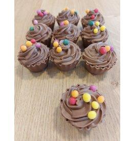 ickx Cup cake pralines Crispy chocolade crème