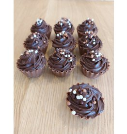 ickx Cup cake pralines Donkere chocolade ganache