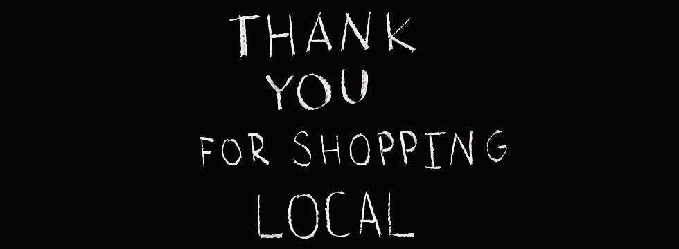 Bedankt om lokaal te shoppen