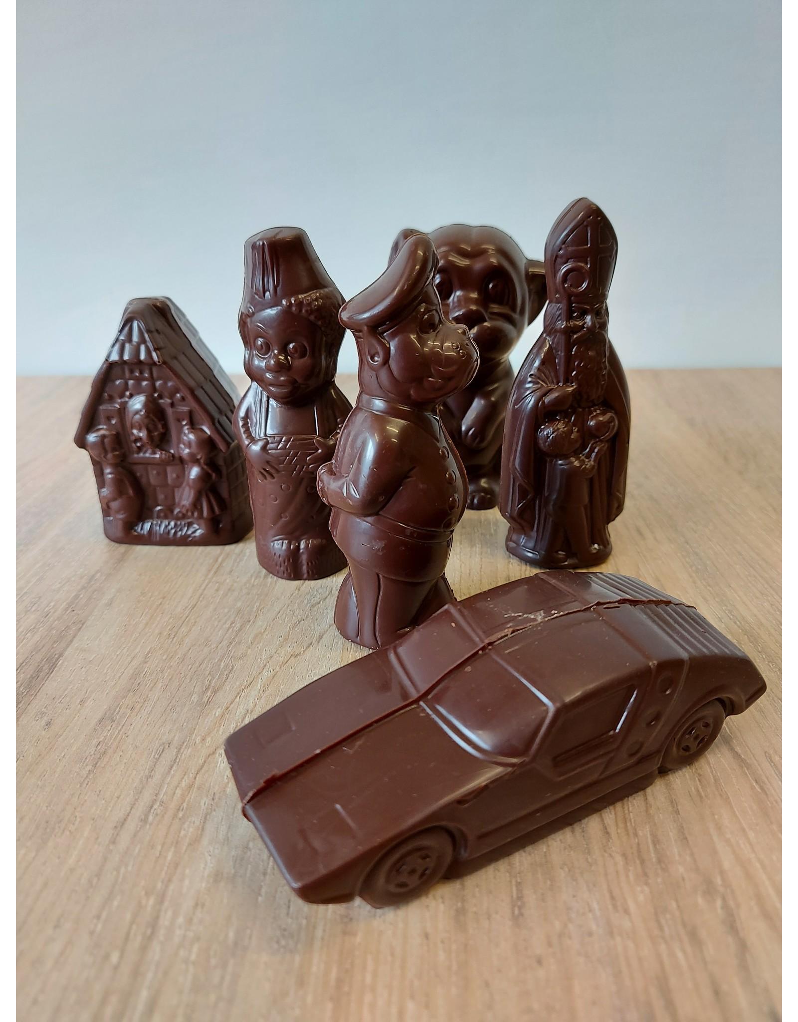 Suikervrije Sinterklaasfiguren - melkchocolade en fondant chocolade