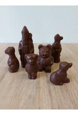 Lactose vrije Sinterklaasfiguren - half donkere chocolade