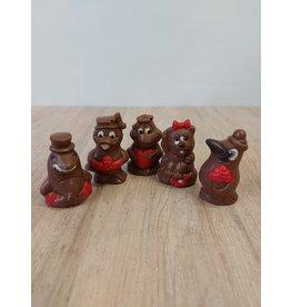 Piepfiguren deco  - per 5 verpakt   - Callebaut chocolade