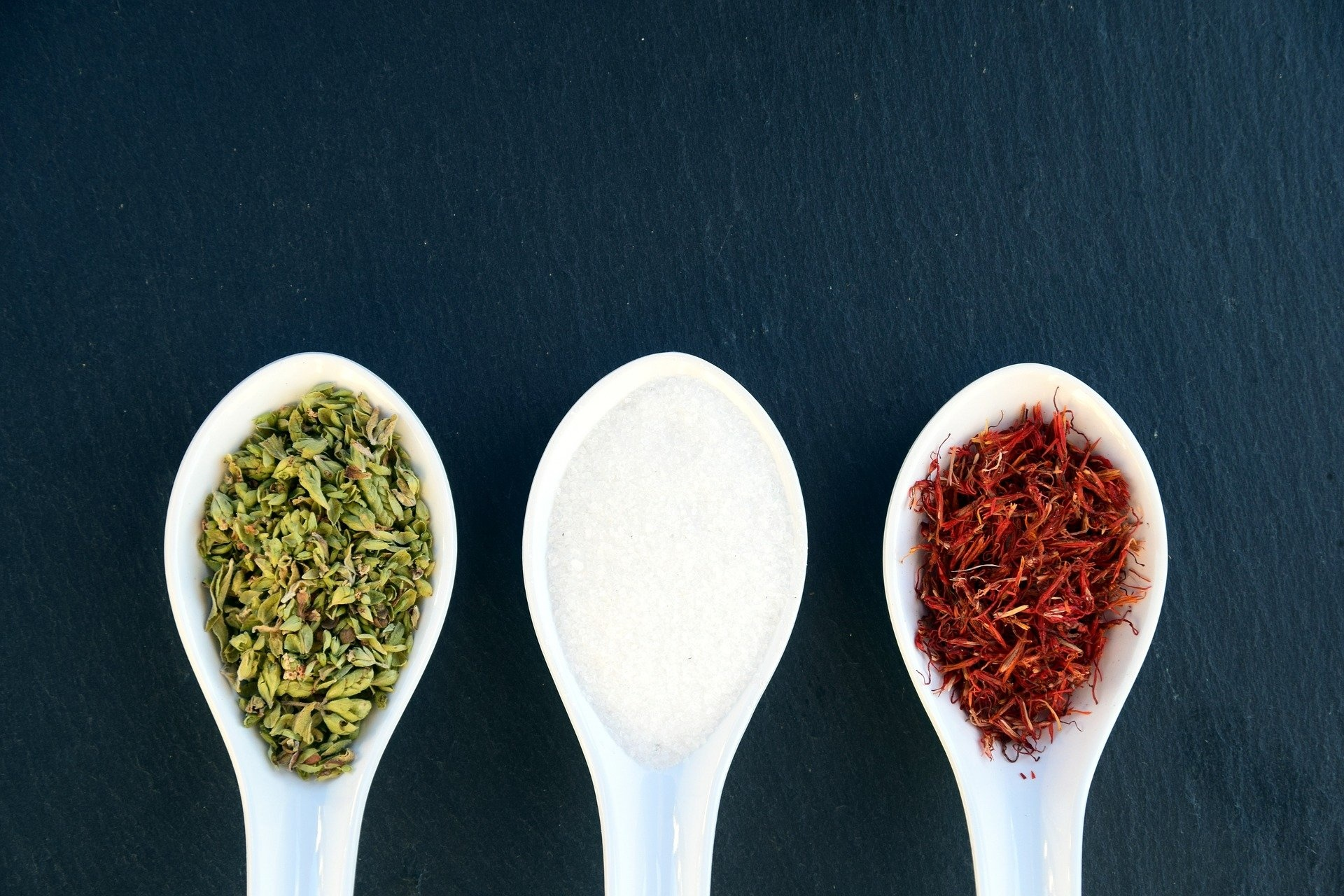 Herbs, Spices and salt