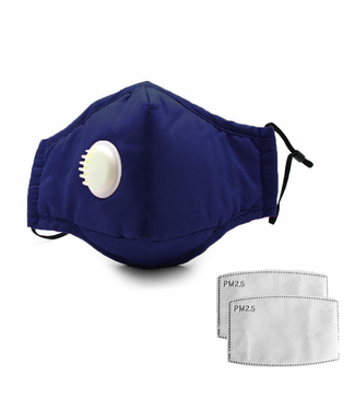 Herbruikbaar Wasbaar Masker - Donkerblauw