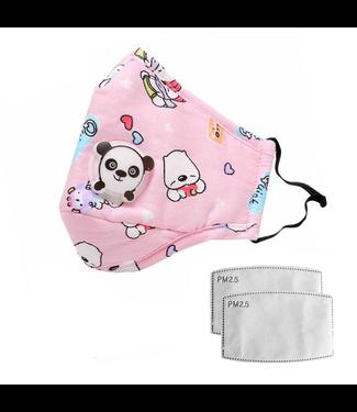 Herbruikbaar Wasbaar Kindermasker (3-12 jaar) - Roze