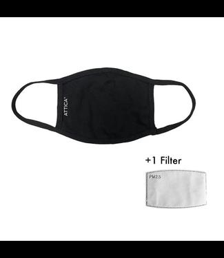 Attica Zwart Herbruikbaar Wasbaar Masker