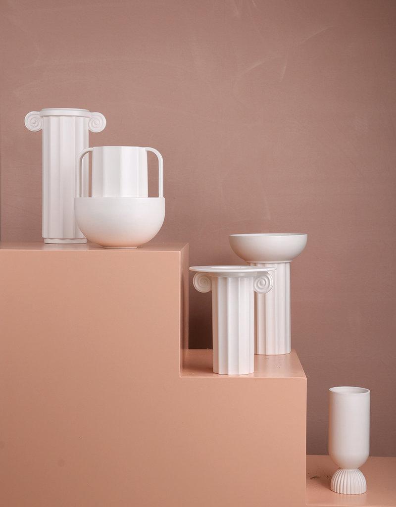 HKliving Stoneware Vase - White