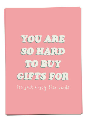 Kaart Blanche Birthday - Hard gifts
