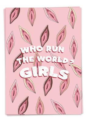Kaart Blanche Love - Run the world
