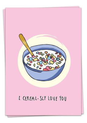 Kaart Blanche Love - Cereal love